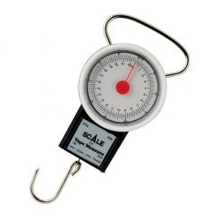 Portable 22kg Fish Weighing Scale with 1m Built-In Tape Measure